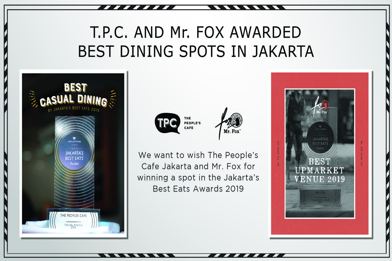 Jakarta's Best Eats Awards 2019 crowns 2 of Ismaya Group's beloved brands as Best Dining Spots