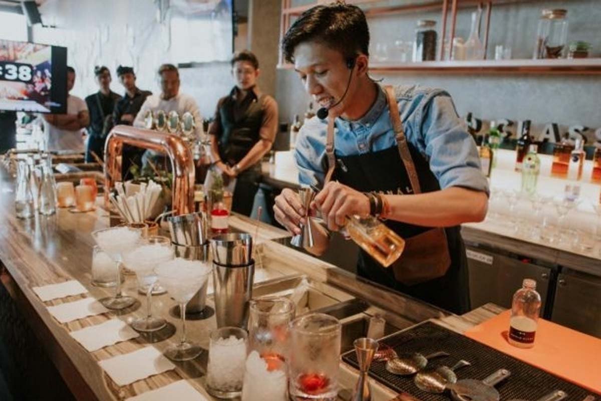 Jakob Manurung of Djournal House awarded Best Bartender at Diageo's Indonesia World Class Competition 2019